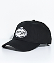 Trap Lord Crest Black Strapback Hat