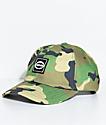 Trap Lord Crest Camo Green Strapback Hat