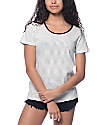 Trillium Leon Cream & Black Stripe Ringer T-Shirt