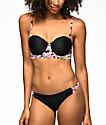 Trillium Trop Queen Strappy Black Bikini Bottom