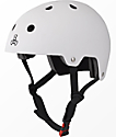 Triple Eight Brainsaver White Rubber Skateboard Helmet