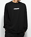 Utmost Co. Logo Black Long Sleeve T-Shirt