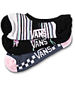 Vans 3 Pack Black Floral No Show Socks