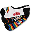 Vans 3 Pack Triple Rainbow No Show Socks