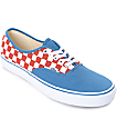 Vans Authentic 50th Checkerboard & Blue Ashes Skate Shoes