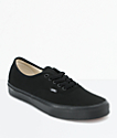 Vans Authentic All Black Skate Shoes (Mens)