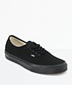 Vans Authentic All Black Skate Shoes (Mens)