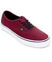 Vans Authentic Port Royale and Black Skate Shoes (Mens)