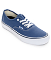 Vans Authentic Pro 50th Navy and White Skate Shoes (Mens)