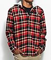 Vans Banfield Red, Black & Khaki Hooded Flannel