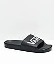 Vans Black & White Slide On Sandals