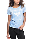 Vans Boxed Logo Cloud Wash Light Blue T-Shirt