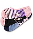 Vans Canoodle Mauve Ombre Striped No Show Socks 3-Pack