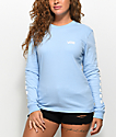Vans Checker Light Blue Long Sleeve T-Shirt