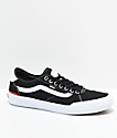 Vans Chima Pro 2 Black & White Skate Shoes