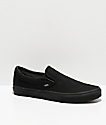 Vans Classic Slip On Black Monochromatic Shoes