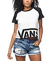 Vans Cut Off Black & White Raglan T-Shirt