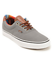 Vans Era 59 C&L Steel Grey & Multi Stripe Skate Shoes (Mens)