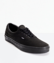 Vans Era Classic All Black Skate Shoes