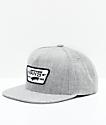 Vans Full Patch Heather Grey Snapback Hat