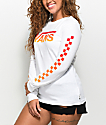Vans Gradient Checker White Long Sleeve T-Shirt