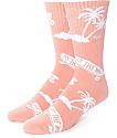 Vans OTW Palm Tree Pink Crew Socks