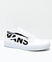 Vans Old Skool Black Logo White Skate Shoes
