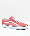 Vans Old Skool Faded Rose & True White Skate Shoes