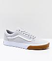 Vans Old Skool Grey & Gum Bump Skate Shoes