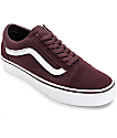 Vans Old Skool Iron Brown & White Shoes (Womens)