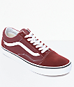 Vans Old Skool Madder Brown & White Skate Shoes