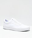 Vans Old Skool Mono White Skate Shoes (Mens)