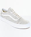 Vans Old Skool Speckle Jersey Grey Womens Shoes
