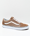 Vans Old Skool Tiger Eye Tan & White Skate Shoes