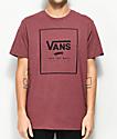 Vans Print Box Burgundy T-Shirt