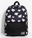 Vans Realm Pink & Black Floral 22L Backpack