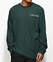 Vans Simple Green Long Sleeve Pocket T-Shirt