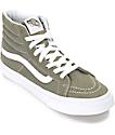 Vans Sk8-Hi Grapeleaf Olive Womens Skate Shoes