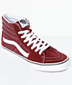 Vans Sk8-Hi Madder Brown & White Skate Shoes