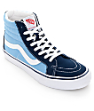 Vans Sk8-Hi Pro 50th Navy and White Skate Shoes