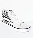 Vans Sk8-Hi Pro White & Black Checkered Skate Shoes
