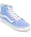 Vans Sk8 Hi Slim Bel Air Blue & White Shoes (Womens)
