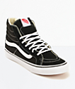 Vans Sk8-Hi Slim Black & True White Shoes