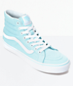 Vans Sk8-Hi Slim Crystal Blue & White Canvas Shoes