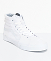 Vans Sk8-Hi True White Canvas Skate Shoes (Mens)