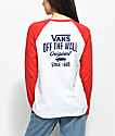 Vans Skate Stack Red Long Sleeve Raglan T-Shirt