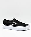 Vans Slip-On Black & White Platform Skate Shoes