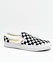 Vans Slip-On Checkered Black & White Sherpa Skate Shoes