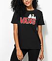 Vans x Peanuts Snoopy Black T-Shirt