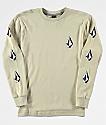 Volcom Boys Deadly Stones Sand Long Sleeve T-Shirt